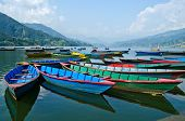 Rowboat At Phewa Lake,pokhara,nepal