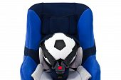 Baby Car Seat And A Soccer Ball
