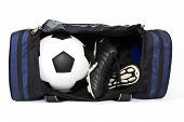 Football And Soccer Boots In Bag