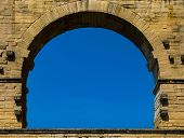Close Up Of The Upper Arches Of Pont-du -gard,france poster
