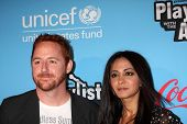 LOS ANGELES - MAR 15:  Scott Grimes; Parminder Nagra arrives at the