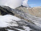 Brandner Glacier In Rhatikon Mountains On Swiss Austrian Border