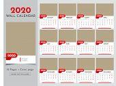 Calendar 2020 Templates In Vecto Design Illustration 16 poster