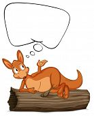 Illustration of a kangaroo thinking