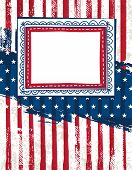Usa Background With One Decorative Label