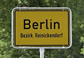 Berlin Place Name Sign