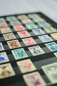 austrian stamps in an album