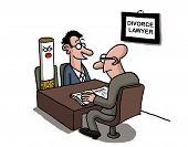 A man is divorcing a cigarette