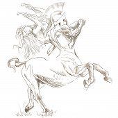 Centauro e ninfa