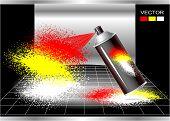 Concept Aerosol spray painter
