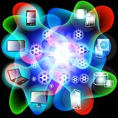 Abstract Vibrant Design Of Cloud Computing Network V3
