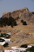 pic of akropolis  - castle  on the hill in Greece - JPG