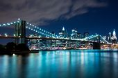 Brooklyn Bridge und Manhattan (New York)