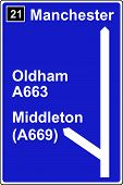 The third motorway sign