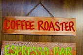 Coffee Roaster Wood Sign