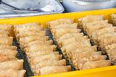 Tray Of Deep Fried Curry Puffs
