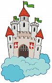 Medieval Castle On Clouds poster