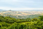 stock photo of salvatore  - Panoramic view from Abbadia San Salvatore  - JPG