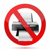Printer Do Not Use Sign