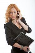 Pretty Attractive Blond Caucasian Businesswoman In Her Twenties