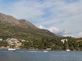 Cavtat, Croatia, Mountains And Zal Beach