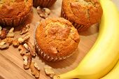 Yummy Banana Walnut Muffins