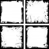 Four black frames