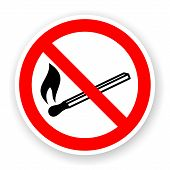 Sticker Of No Fire Sign