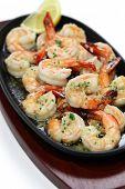 shrimp scampi in garlic butter, american food
