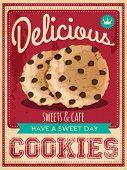vector vintage styled cookies poster