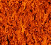 Fiery inferno flame background