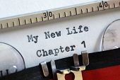 My new life chapter one concept for fresh start, new year resolution, dieting and healthy lifestyle