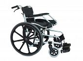 Black Wheel Chair On White Background