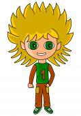 foto of chibi  - Kid drawn in SD super deformed or chibi manga style - JPG