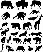 Animal Silhouettes Set No.1. Wild Mammals