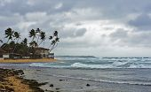 picture of rainy season  - The rainy season in Sri Lanka the town of Hikkaduwa - JPG