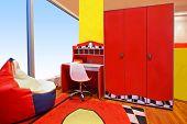 Red Children Room