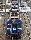Blue Electrified Train