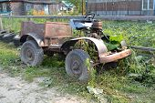 The Old Self-made Car In The Village
