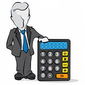 Businessman And Calculator