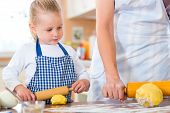 stock photo of confectioners  - Family home baking  - JPG