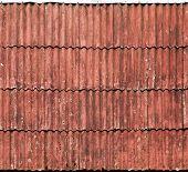 Old Red Slate Tiles Roof Background Texture
