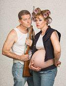 Serious Pregnant Hillbilly Couple