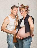 Adorable Eccentric Pregnant Couple