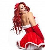 Pin-up christmas girl