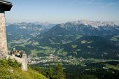 BERCHTESGADEN, GERMANY CIRCA AUGUST 2013 - View from Hitler's Eagle's Nest in the valley