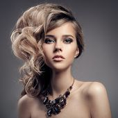 foto of gem  - Fashion Portrait Of Luxury Woman With Jewelry - JPG