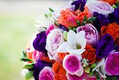 Colorful wedding bouqueet
