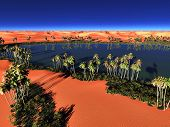 foto of oasis  - Beautiful natural background  - JPG