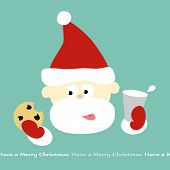 Santa's Milk and Cookie break (removable text) vector